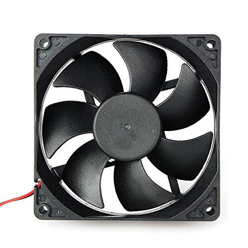 Movilideas Ventilador de 80 mm por 80 mm por 25 mm 8025 DC 24 V 0,20 A rodamiento de Bolas sin escobillas Refrigeración Ventilador 2pin (8025 24V.)