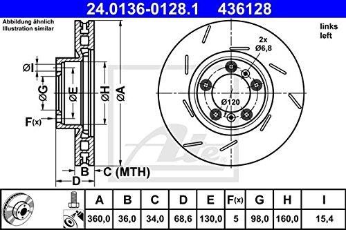 ATE 24013601281 Disque de frein