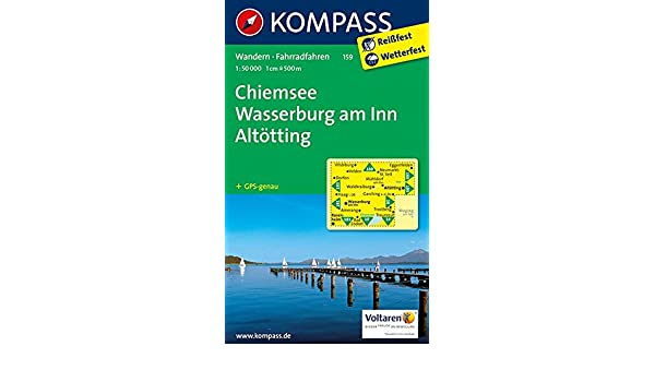Chiemsee Wasserburg Am Inn Altötting 1 50 000 Wanderkarte Mit