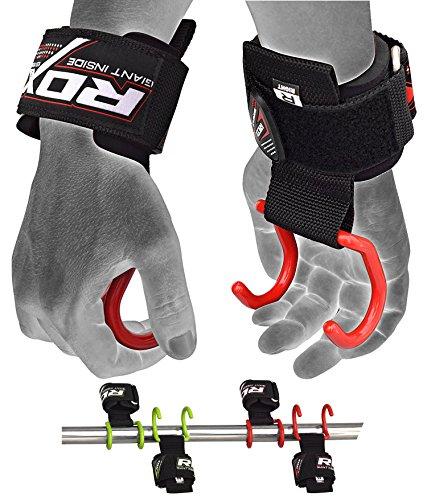 RDX Zughilfen Krafttraining Latzughilfe Klimmzughaken Gewichtheben Handgelenkstütze