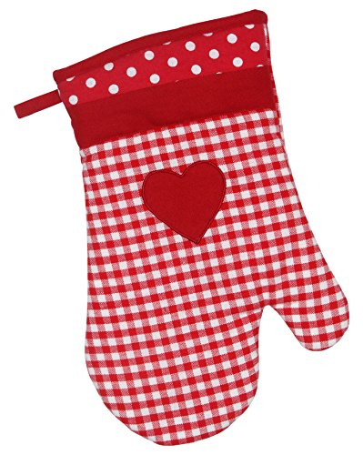 Dexam Vintage Home burdeos rojo para horno guante de cocina para horno de cocina 16150137