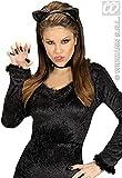 WIDMANN Catwoman Diadema orejas de gata Adulto mujer, Negro, One Size, 2321A