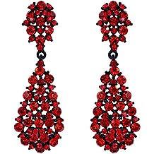 nuovo stile dd8ca 0b25f Orecchini pendenti rossi - 1 stella e più - Amazon.it