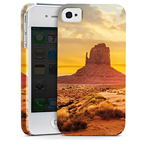 Apple iPhone X Silikon Hülle Case Schutzhülle Sonnenuntergang Amerika Wüste Premium Case glänzend