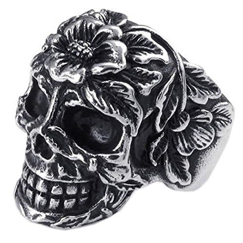 sezione speciale prezzo favorevole ampia scelta di colori e disegni KONOV Gioielli Anello da Uomo, Anelli, Biker, Cranio Teschio ...