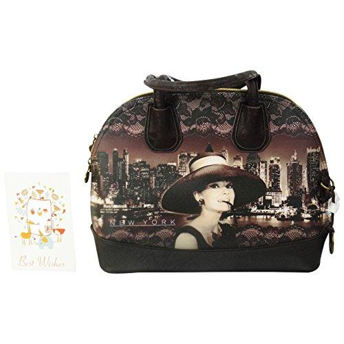 Audrey new york borsa da donna ragazza bauletto bowling bugatti