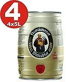 4 x Franziskaner Hefe Weiss cerveza Naturaleza nublado 5 L Partido barril 5.0% vol.