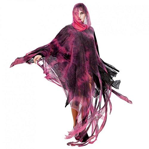 (Fyasa 107408-t04rot Zombie Poncho Kostüm, groß, 160cm)