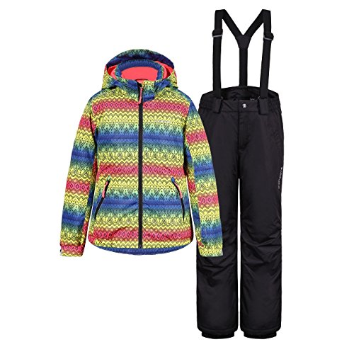 Icepeak Kinder Mädchen Skianzug Mehrfarbig, Farbe:Mehrfarbig;Bitte Größe wählen:140