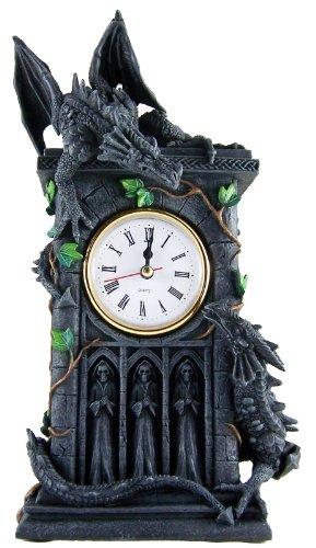 Unbekannt Nemesis Now Duelling Dragons Clock Uhr ()