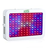 JS Products LED Pflanzenlampe Vollspektrum 1200W Grow Light Pflanzenlicht UR IR Rot&Blau LED Wachstumslampe Pflanzenleuchte für Zimmerpflanzen,Gemüse,Blumen und Gewächshaus Pflanze,EU Plug(10W LEDs)