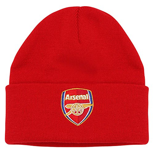 Arsenal FC Erwachsene & Junior Supporters Beanie Hat Offizielles - Arsenal-fußball-hut Fc
