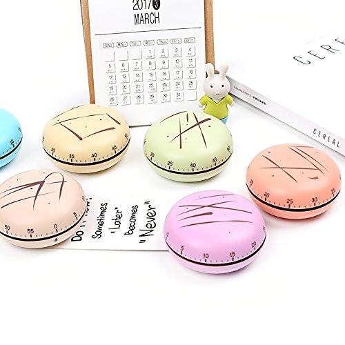 Zhi Jin Neuheit 60Minuten Macaron Timer Studie Hausaufgaben Küche Kochen Timer Gym Training Zeit Alarm Geschenk rose