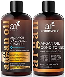 ArtNaturals Moroccan Argan Oil Hair Loss Shampoo & Conditioner Set - 2 x 473 ml - Sulfate Free - Treatment for Hair Loss, Thinning Hair & Hair Growth, Men & Women