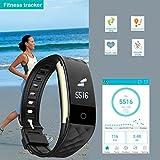 Willful SW328 Fitness Tracker mit Pulsmesser – Wasserdichte Fitness Armband Puls Armband Aktivitätstracker Schrittzähler Uhr mit Schlafmonitor Kalorienzähler Vibrationsalarm Anruf SMS Whatsapp Beachten mit iPhone Android Handy kompatibel - 5