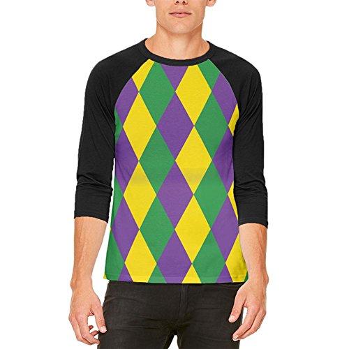 stüm Herren Raglan T Shirt weiß-schwarz 2XL (Mardi Gras Kostüme Für Männer)