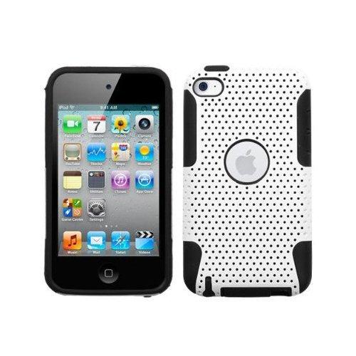 SODIAL(TM) Custodia ibrida rigida snap-on bianco e nero per ipod touch 4G