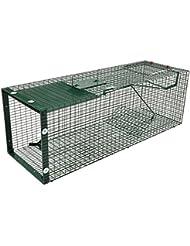 Trampa de captura de animales vivos-caja para martas, conejos, gatos 90x30x30 cm