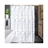 DOLOVE Duschvorhang Bunt Badewannen Duschvorhang Bad Vorhang Anti Schimmel Duschvorhang Weiß 180x200CM