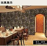 Tapetenbahn, 3D Wasserdichte Antike Stein Rock Tapete Restaurant Cafe Hintergrundbild, A