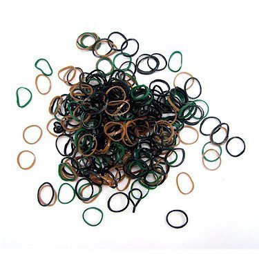 300 Bands Camouflage Amicizia Loom - Verde / Bands Nero / Marrone, 12 S Chiusura 1 Strumento