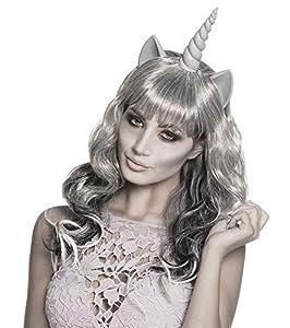 Boland 86199Peluca Fantasma Unicornio, Gris
