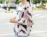 DYY Le signore di estate camuffamento con cappuccio protezione solare abbigliamento protezione UV abbigliamento mimetico abbigliamento protezione solare,Rosa,Taglia unica