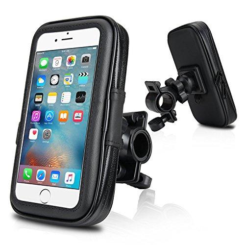 """Fahrradhalterung, Wotek Fahrradhalterung universal mit Wasserdichter Tasche Fahrrad und Motorrad Halterung Halter für Handy Smartphone 4,5 Zoll - 5,0 Zoll wie z.B. iPhone 6 6s , Samsung Galaxy S5 Mini , Samsung Galaxy S4 (4.5""""-5.0"""")"""