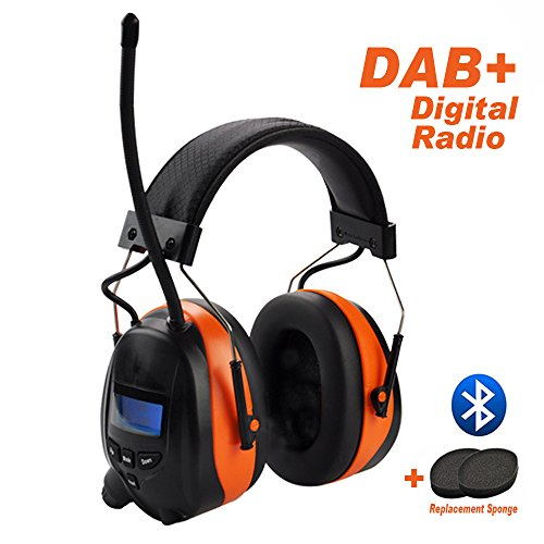 Preisvergleich Produktbild DAB / DAB + FM Radio & Bluetooth Wiederaufladbare Lärmschutz Gehörschutz,  Protear Gehörschutz mit integriertem Mikrofon für Arbeits-und Industrie,  zertifiziert SNR 30 dB