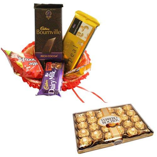 Gift Hamper With 24 Pcs Ferrero Rocher