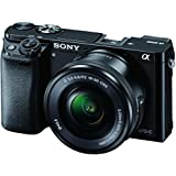 Sony Alpha A6000L 24.3MP Mirrorless Camera (Black) + 16-50mm Lens with Memory Card and Carry Case