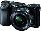 Sony Alpha A6000L 24.3MP Digital SLR Camera (Black) + 16-50mm Lens with Memory Card and Carry Case