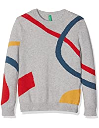 United Colors of Benetton 1032Q, Pull Garçon, Gris (Light Grey), 3 - 4 ans (Taille Fabricant: XXS)