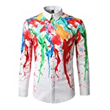 Luckycat Herren Herbst Casual Fashion Slim Fit Baumwolle Farbe Langarm Shirt Top Bluse Mode 2018