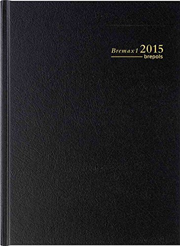 Brepols - Bremax 1 Agenda Journalier - Couverture Noire 1 jour par page 21 x 29 cm Année 2018