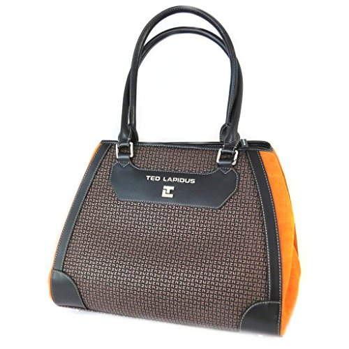 Bag 'Ted Lapidus'arancio marrone - 35x29x14 cm.