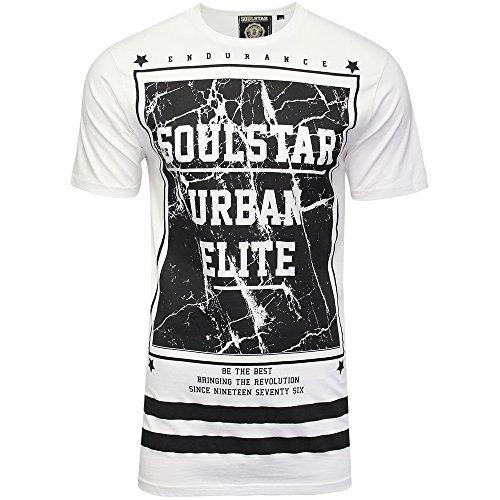 SoulStar Herren T-Shirt Weiß