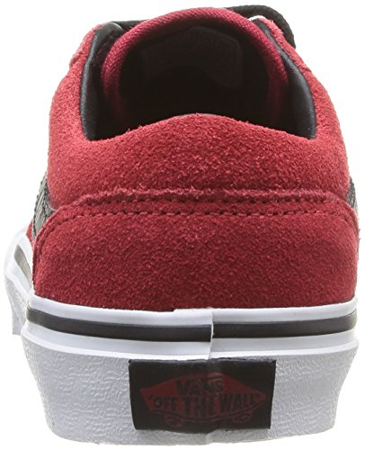 Vans - Y Milton (Suede), Sneakers infantile Rosso (Rouge (Chili Pepper/Black))