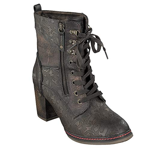 Mustang 1287-506 Schuhe Damen Stiefeletten Ankle Boots, Schuhgröße:41, Farbe:Braun