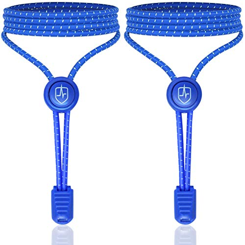 High Pulse Schnellschnürsystem - EIN Paar elastische Schnürsenkel mit Schnellverschluss für einen perfekten Sitz und sicheren Halt (Blau) -