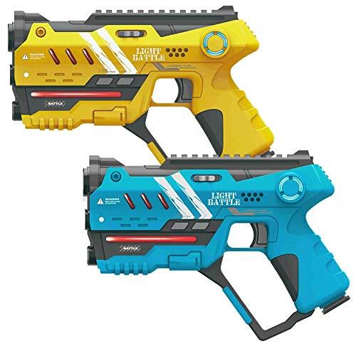 Preisvergleich Produktbild Light Battle Laser Tag Set: 2 Anti-Cheat Laserpistolen - Gelb + Blau / LBAP10248AC
