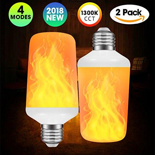 LED-Leuchtmittel mit Flammeneffekt, mit 4 Leuchtmodi und umgedrehter Funktion, Standard-Sockel, dekorative Lichter für den Innen- und Außenbereich, Bar/Hotel, E27, 7.00W - Base-dekorative Licht-lampe