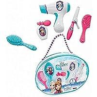 Smoby - 320141 - la Reine des Neiges Sac Beauté - + 5 Accessoires Inclus - Sèche Cheveux Electronique