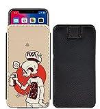 I-Sonite Skull Custom Designed Printed Pull Tab Pouch Phone