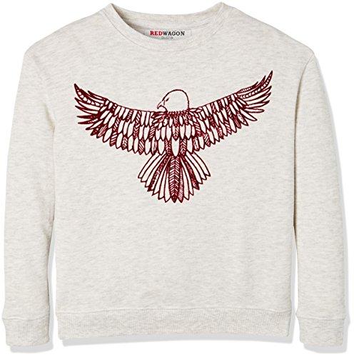 RED WAGON Jungen Sweatshirt mit Adler-Druck, Grau (Grey), 104 (Herstellergröße: 4 Jahre) (Pullover Adler)