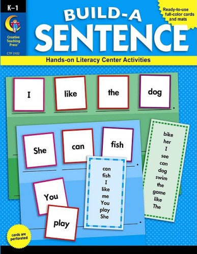 Build a Sentence, Grades K-1: Hands-On Literacy Center Activities [With Punch-Outs] por Majella Maas