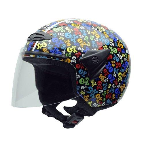 NZI 050017G410 Helix II Junior Motorcycle Helmet, Pirates, Size L