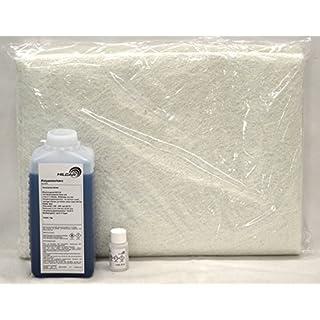 1kg Polyesterharz + 20g Härter + 2m² Glasfasermatte 300g/m²