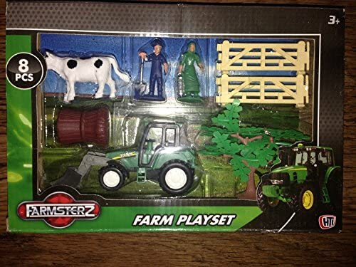 JEU FARM - 8 pièces - tracteur, vache, vache, vache, portes, arbre, botte de foin, agriculteur et sa femme | De Nouvelles Variétés Sont Introduites L'une Après L'autre  63d613