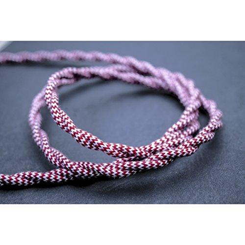 cable-de-tela-rojo-blanco-torsade-de-chevron